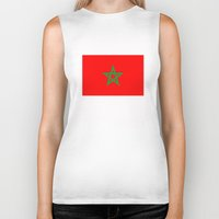 morocco Biker Tanks featuring Morocco country flag by tony tudor