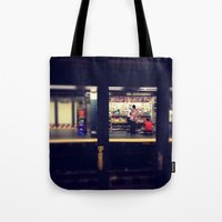 subway Tote Bags featuring Subway by Alissa Fleck