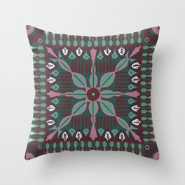 Summery Square Throw Pillow