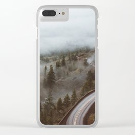 Foggy Rowena Crest Clear iPhone Case