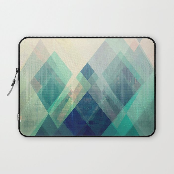 Mountains Print Abstract Print Geometric Wall Art Abstract Mountain Minimalist Art Modern Art Laptop Sleeve By Amylighthall