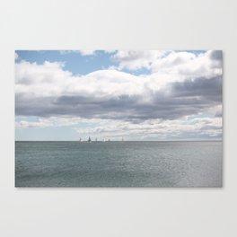 Sailboats on the Sea Canvas Print