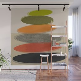 Mid-Century Modern Ovals Abstract Wall Mural