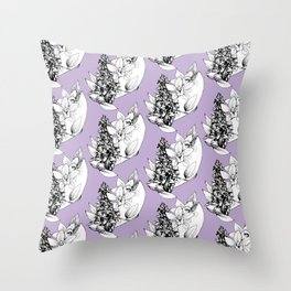 early-purple orchid  Throw Pillow