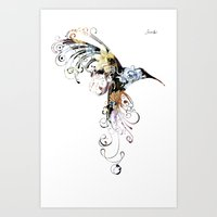 Colibri one Jacob's 1968 fashion Paris Art Print
