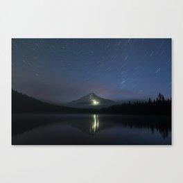 Lights on Mount Hood Canvas Print