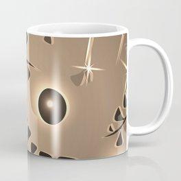 Pattern silver plant elements bronze luminous ethnic style. Coffee Mug