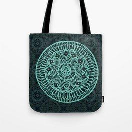 Blue Doodle Mandala Tote Bag
