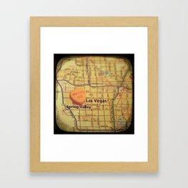 Marry Me Las Vegas Framed Art Print