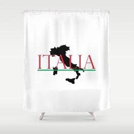 Italia & Italian Boot Shower Curtain