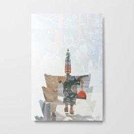 Asakusa // Kimonos Metal Print