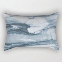 Ocean Deep Marble Rectangular Pillow