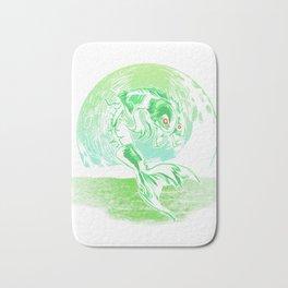 Halloween Zombie Fish graphic| Skeleton Fish print Bath Mat