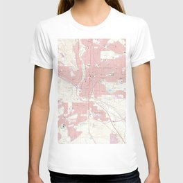 Vintage Map of Colorado Springs CO (1961) 2 T-shirt