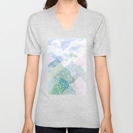 Multicolour Magic Mountains Unisex V-Neck