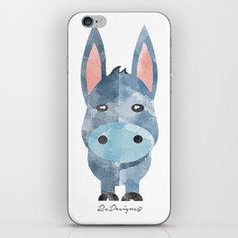 Water Colour Baby Donkey iPhone Skin
