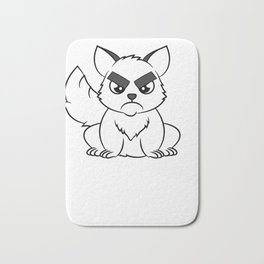 """""""I Hate Everyone Funny Cat"""" tee for fur parents and pet lovers out there! Cutest gift ever!  Bath Mat"""