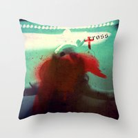 cross Throw Pillows featuring Cross by oppositevision