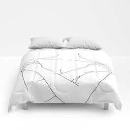 Crossed arms illustration - Joyce Comforters