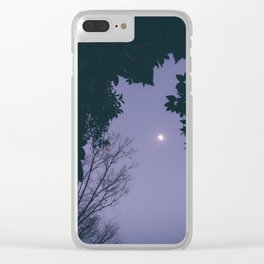silent moon Clear iPhone Case