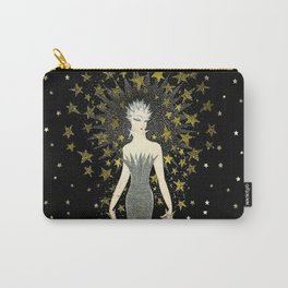 """Art Deco Sepia Illustration """"Starstruck"""" by Erté Carry-All Pouch"""