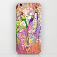 batik iPhone & iPod Skins featuring BATIK BIRDS by AlyZen Moonshadow