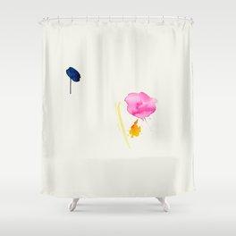 Minimum 2 - minimal artwork by Jen Sievers Shower Curtain