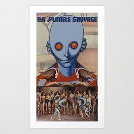 Le Planete Sauvage (Fantastic Planet) Reimagined  Art Print