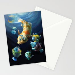 Easy Listening Streaker Fish Among the Sweater Fish Stationery Cards