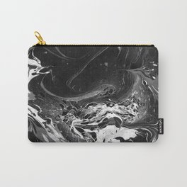 // MARBLED BLACK // Carry-All Pouch