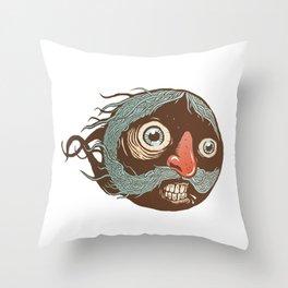 SuperMustacheMan Throw Pillow