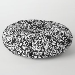 Phidias Gold Sticker Pattern Floor Pillow
