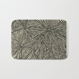 Black and Ivory Triangles Bath Mat