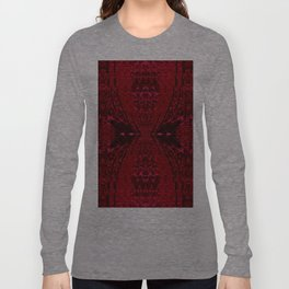 Red Hour Glass Long Sleeve T-shirt