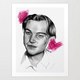Leonardo DiCaprio. Art Print