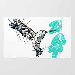 Hummingbird geometric Rug