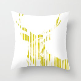 Geometric Yellow Stag Throw Pillow