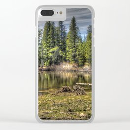 Reflecting Pond at Carson Spur, Amador County CA Clear iPhone Case