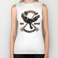 ravenclaw Biker Tanks featuring Ravenclaw team captain quidditch by JanaProject
