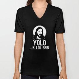 Jesus Jesus Christ Jesus Figure Catholic Unisex V-Neck