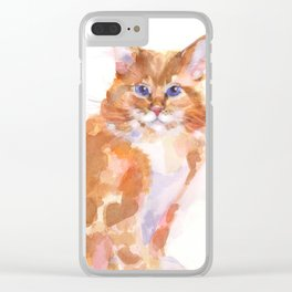 Tiger Rose Clear iPhone Case