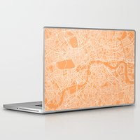 london map Laptop & iPad Skins featuring London Map by chiams