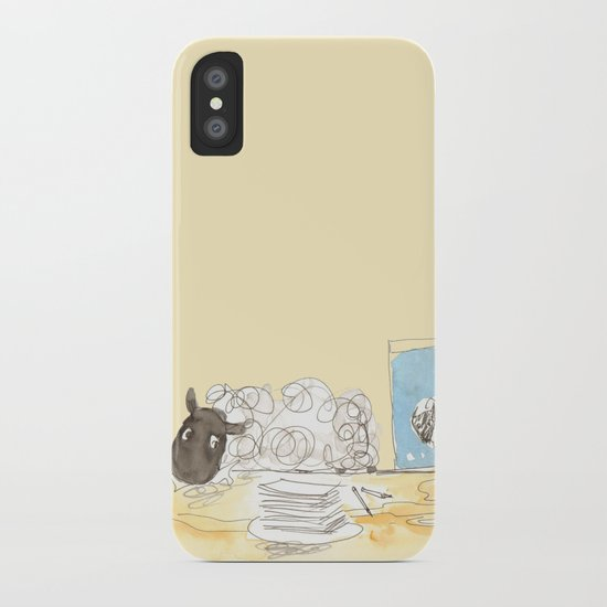 Sheeps loves papers iPhone Case