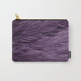 Grayish Purple Feathers Carry-All Pouch