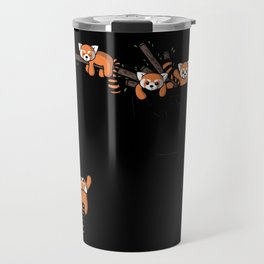 Pocket Red Panda Bears Travel Mug