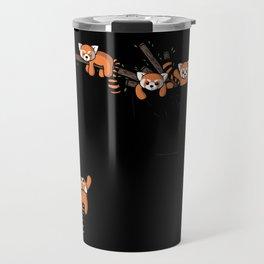 Pocket Red Panda Bears Travel Mug