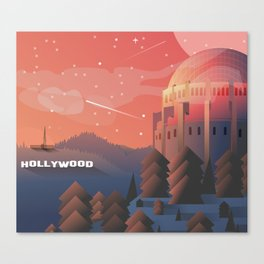 Star gazing in Hollywood Canvas Print