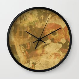 LOK Live Love Montage Wall Clock