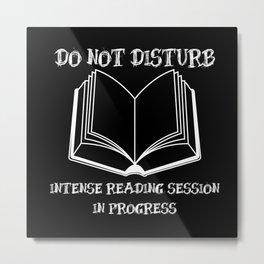 Do Not Disturb (White on Black) Metal Print