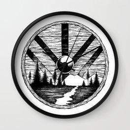 Viking shield Wall Clock